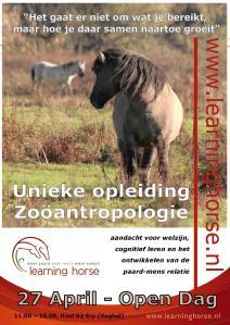 27 april open dag en introductie opleiding zooantropologie
